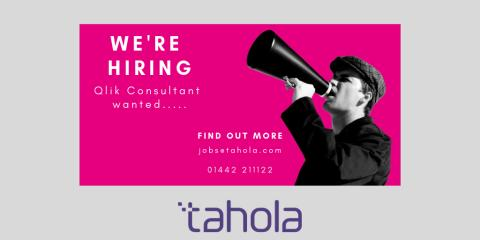 Would you like to join Tahola as a Qlik Consultant?