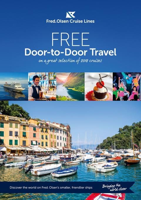 'The World at your doorstep' with Fred. Olsen's free door-to-door cruise transfers in 2018