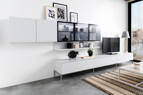 Schmidt living stue reol møbel