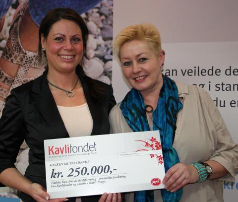 Kavlifondet ga 250.000 kroner til kreftforskning