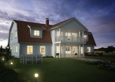 Natt nytt hus