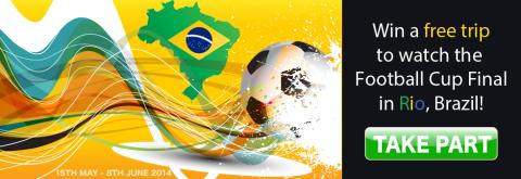 LuckyWinSlots is giving its players a chance to win an all expenses paid trip to the biggest football event of the year in Rio, Brazil!