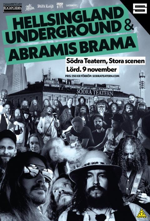 Abramis Brama & Hellsingland Underground spelar på Södra Teatern