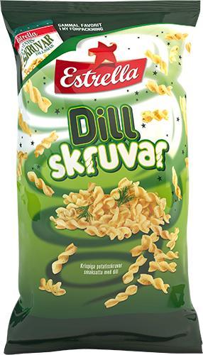 Dillskruvar äntligen tillbaka - Estrella lanserar en ny serie snacks i mindre påsar