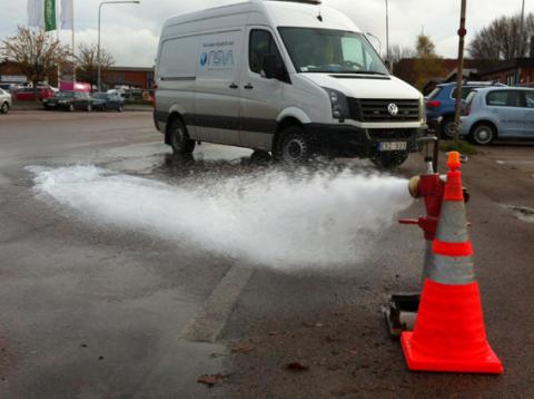 Årlig spolning av huvudvattenledningarna i Landskronas och Svalövs kommun