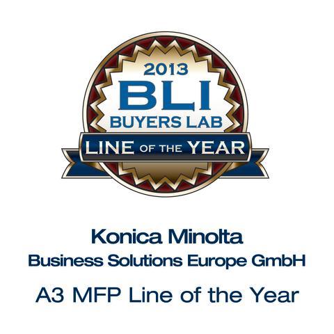 Alle gode ting er tre: Konica Minolta vinner BLIs Line of the Year-pris for tredje år på rad