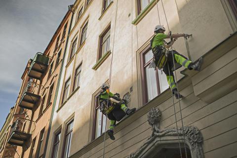 Reparbete visas upp på Fastighetsmässan