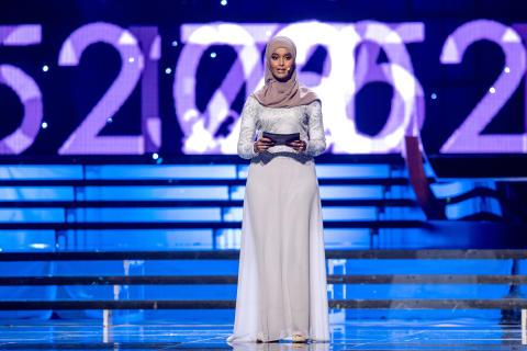 Suad Ali delade ut pris till Årets ledare under Idrottsgalan den 15 januari 2018 i Stockholm.
