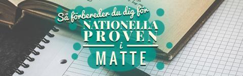 Förbered dig för nationella proven i Matte 2017