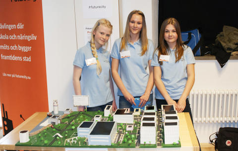 Wallbergsskolan med sitt bidrag Clearview, Future City 2014
