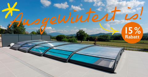 Swimmingpool mit Poolhalle – Badesaison verlängern