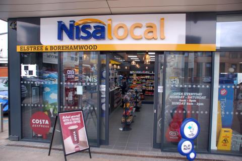 Nisa convenience store at Elstree & Borehamwood