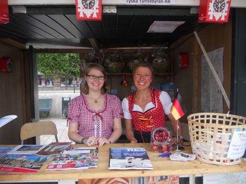 Tyska Turistbyrån visade upp det traditionella Tyskland på folkdansfestivalen Europeade i Helsingborg