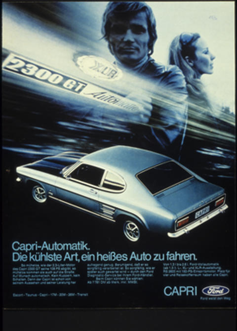 Ford Capri 2300 GT Werbeplakat