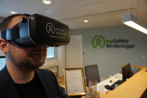 mySafety Försäkringar gör VR-film för nyanställda