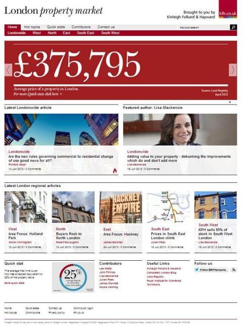 KFH launches London property market blog