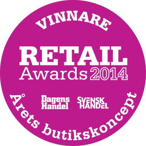 """KICKS vinnare av """"Årets butikskoncept"""" på Retail Awards 2014!"""