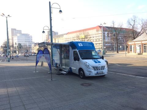 Beratungsmobil der Unabhängigen Patientenberatung kommt am 10. April nach Frankfurt (Oder).