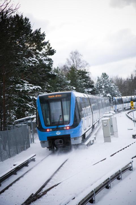 Tunnelbana i snö