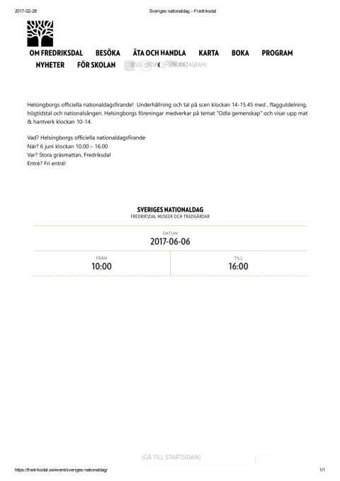 Sveriges Nationaldag på Fredriksdal