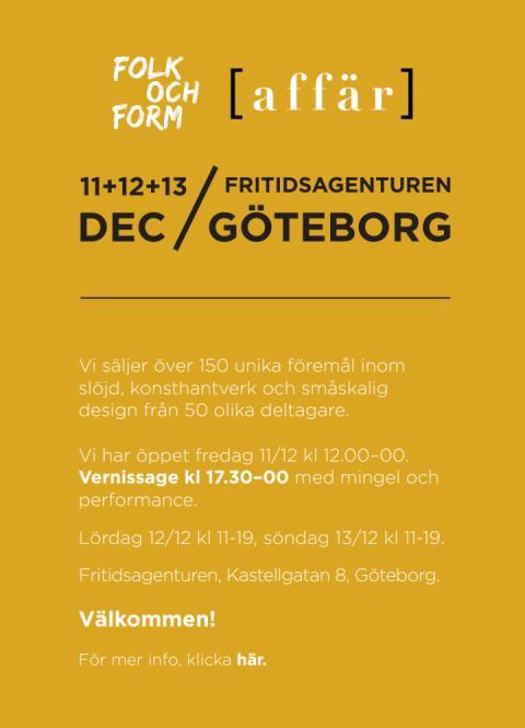 Folk och Form [affär] – inbjudan 11-13 december