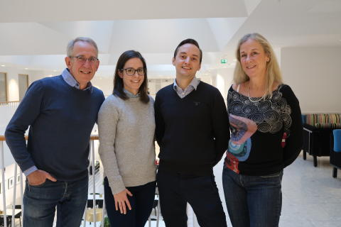 Thomas Cederholm, Sandra Radecki, Johan Bäck, Susann Balzar.