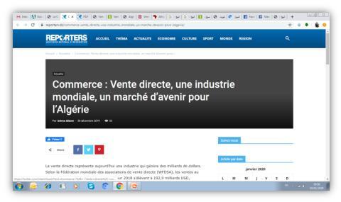 Vente directe, une industrie mondiale, un marché d'avenir pour l'Algérie