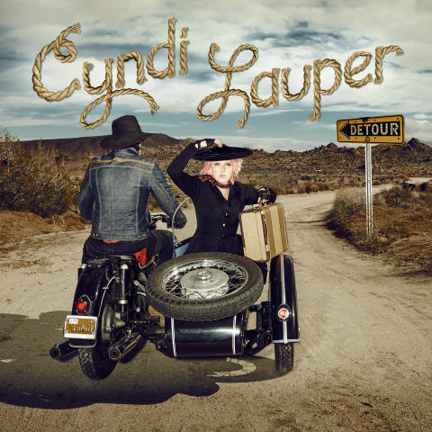 "Cindy Lauper // Cover art ""Detour"""