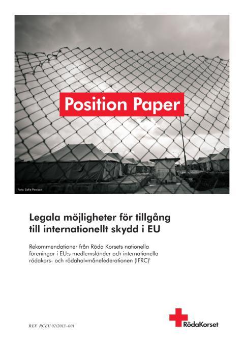 Legala möjligheter för tillgång till skydd - position paper