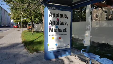 So sehen die Plakate seit dem 15.09.2017 aus: Der Initiator der Kampagne ist nun offiziell.