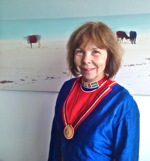 Samiska Grandmother Harriet Nordlund medverkar på presskonferensen och på det Öppna Rådet 11-14 juli