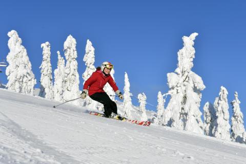 På ski i Idre Fjäll - Johanna