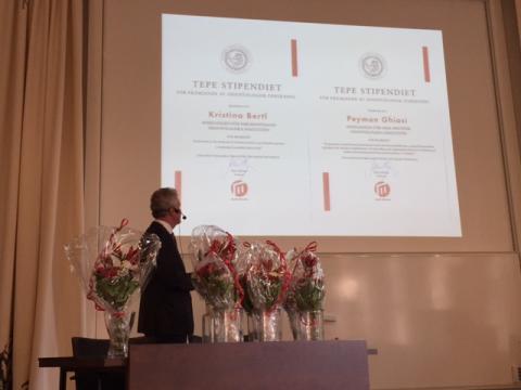 Kristina Bertl och Peyman Ghiasi tilldelasTePe-stipendium för odontologisk forskning vid Malmö högskola