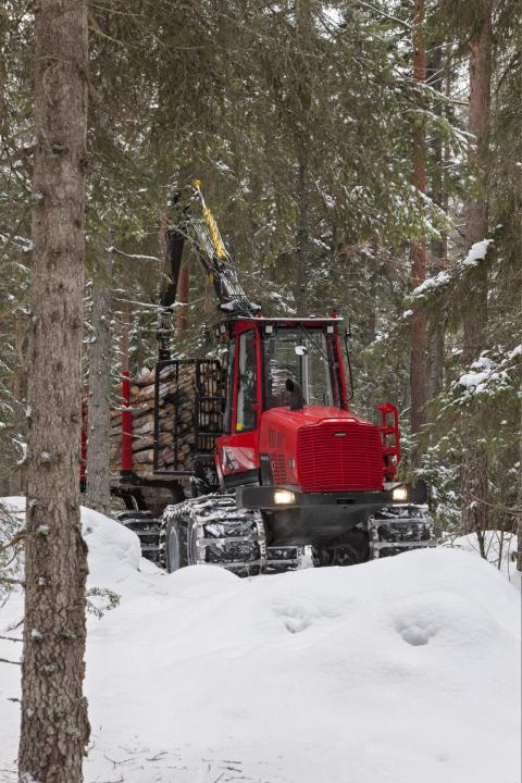 Komatsu 835 i vinterföre