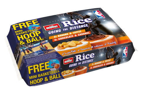 Müller Rice and the National Basketball Association (NBA) on-pack promotion
