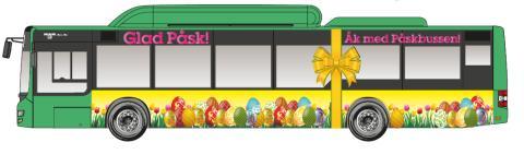 Hitta påskbussen - vem gör Lunds snyggaste påskägg?