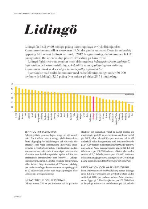 Cykelfrämjandets kommunvelometer 2015