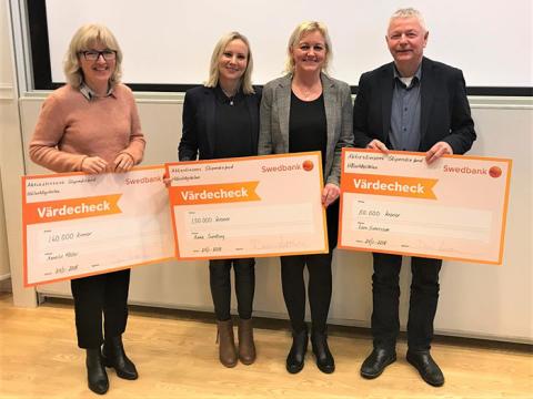 Tre projekt belönades med stipendier från Aktiestinsens stiftelse