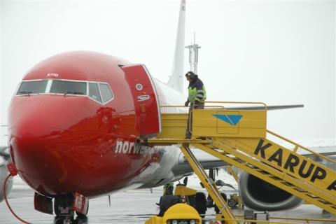 Norwegians Boeing 737-800 i Karup Lufthavn