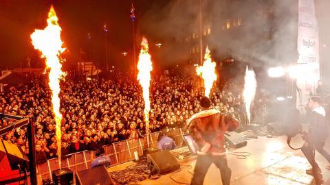Stavanger Avslutning konsert med pyro