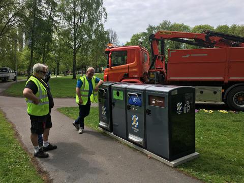 Glödhett grillmästerskap och invigning av ny smart sorteringsstation i Positivparken