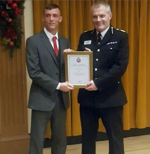 ​Gym instructor receives police award for bravery
