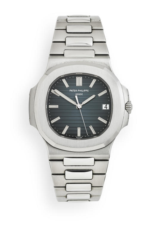Patek Philippe: A gentleman's wristwatch of steel. Model Nautilus, ref. 5711/1A-001. Mechanical movement with automatic winding, cal. 324 S C. 2009. Estimate: €40,000-53,500 (DKK 300,000-400,000)