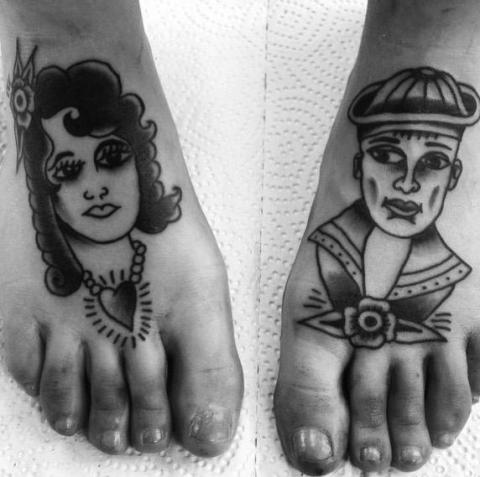 Tatoverede fødder