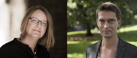 Anders Johansson och Kristina Hård är årets mottagare av Göteborgs Stads Litteraturpriser