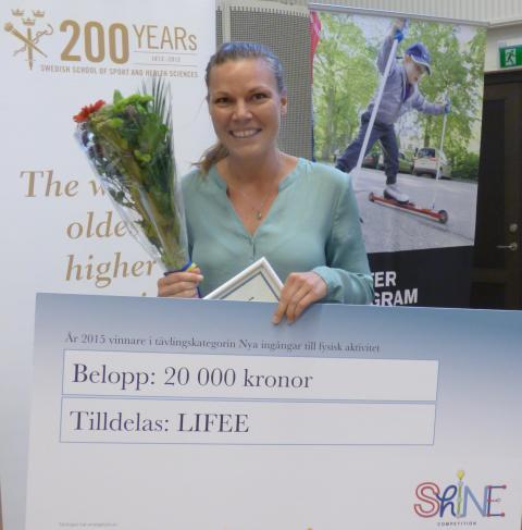 Alva Appelgren från Lifee vann kategorin Nya ingångar till fysisk aktivitet i Shine Competition