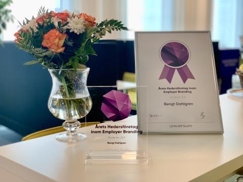 Bengt Dahlgren är Årets Hedersföretag inom Employer Branding
