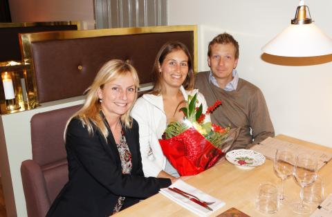 Bookatables/Livebookings miljonte restauranggäst 2011 - Jennifer Kling