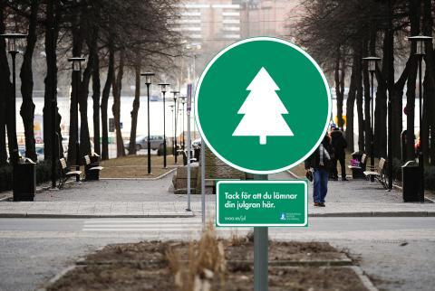 23 nya uppsamlingsplatser för julgranar