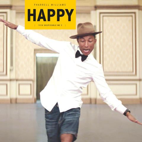 """Pharrell Williams låt """"Happy"""" #1 på Billboard"""